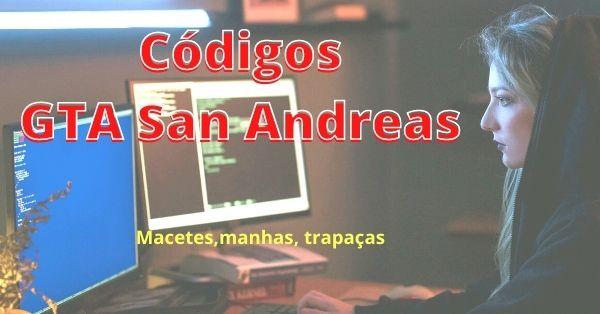 gamer usando os códigos do Gta San Andreas para traáças